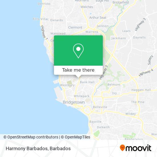 Harmony Barbados map