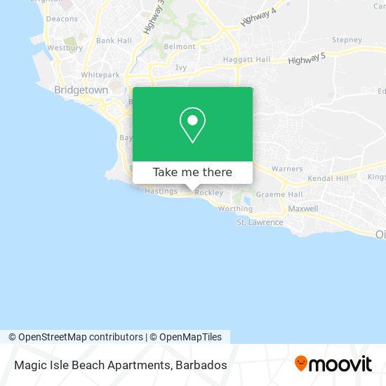 Magic Isle Beach Apartments map