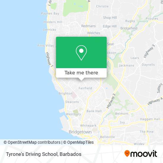 Tyrone's Driving School map