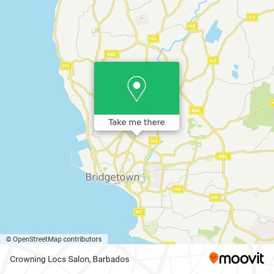 Crowning Locs Salon map