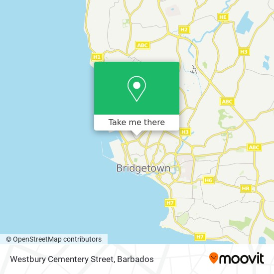 Westbury Cementery Street map