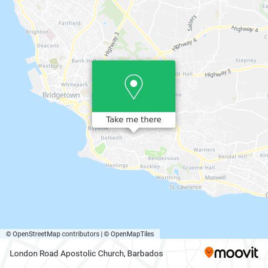 London Road Apostolic Church map