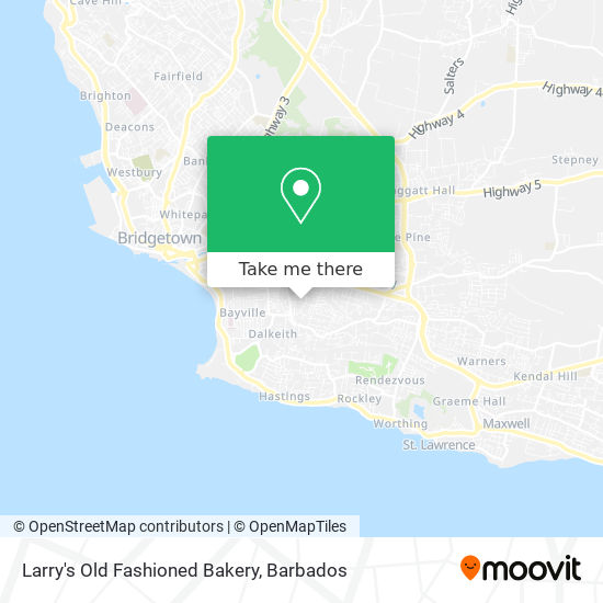 Larry's Old Fashioned Bakery map