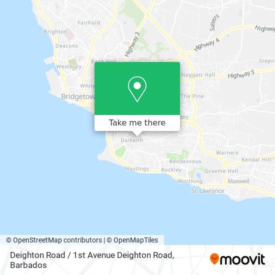 Deighton Road / 1st Avenue Deighton Road map