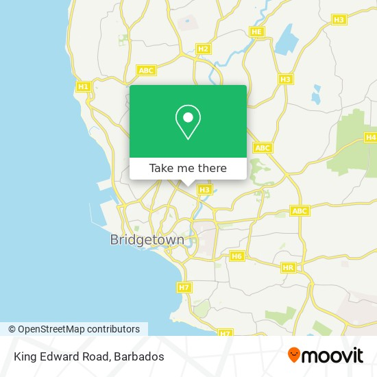 King Edward Road map