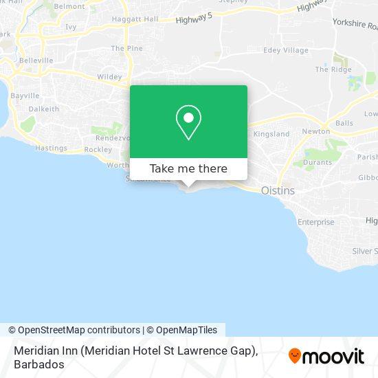 Meridian Inn (Meridian Hotel St Lawrence Gap) map