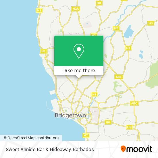 Sweet Annie's Bar & Hideaway map