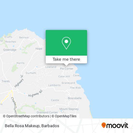 Bella Rosa Makeup map