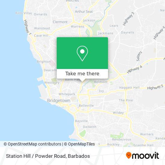 Station Hill / Powder Road map