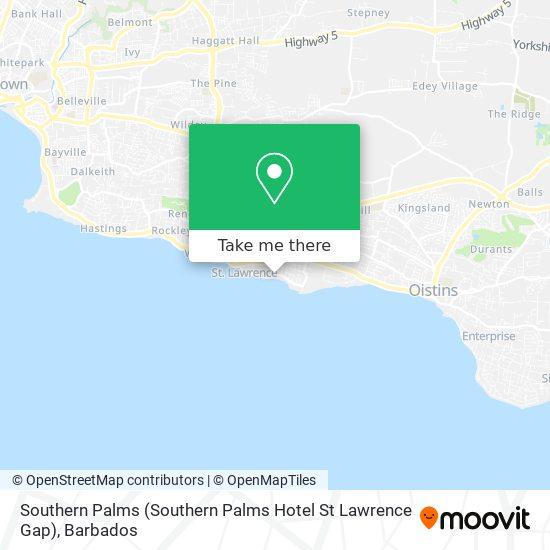 Southern Palms (Southern Palms Hotel St Lawrence Gap) map