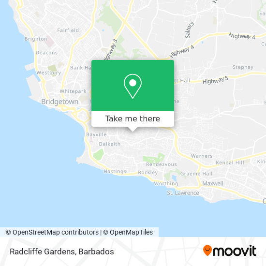 Radcliffe Gardens map