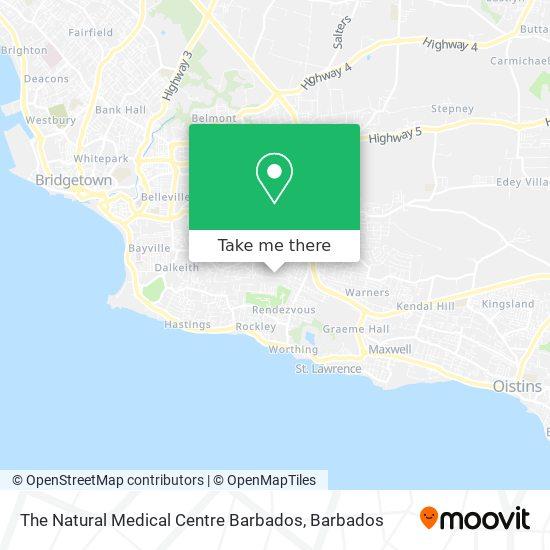 The Natural Medical Centre Barbados map