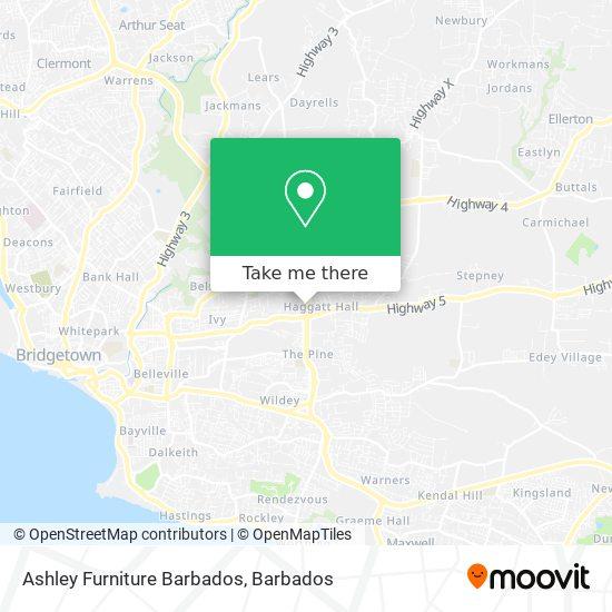 Ashley Furniture Barbados map