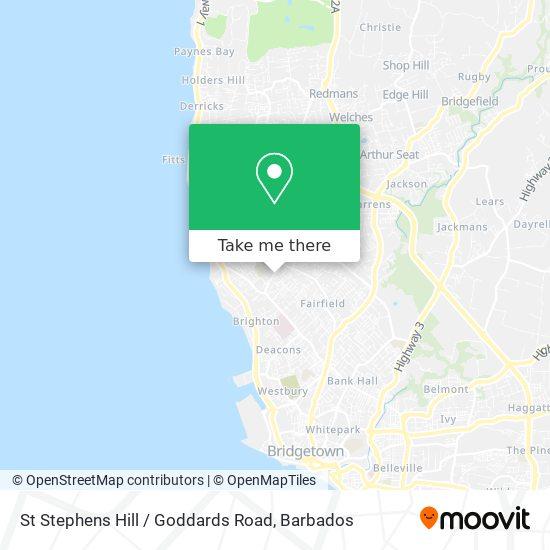 St Stephens Hill / Goddards Road map