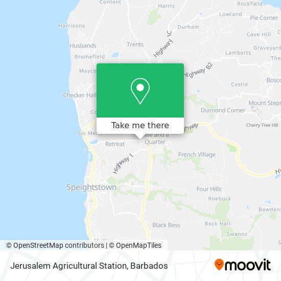 Jerusalem Agricultural Station map