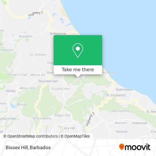 Bissex Hill map