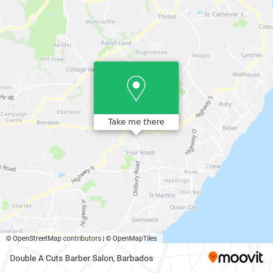 Double A Cuts Barber Salon map