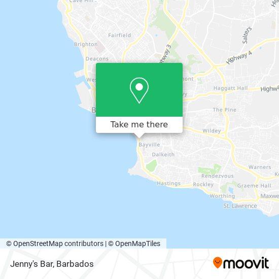 Jenny's Bar map