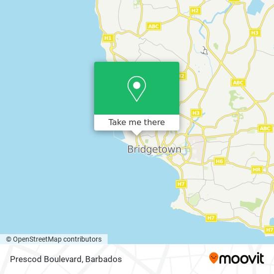 Prescod Boulevard map