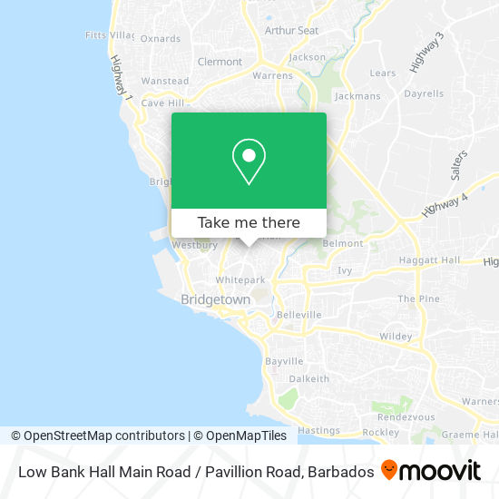 Low Bank Hall Main Road / Pavillion Road map