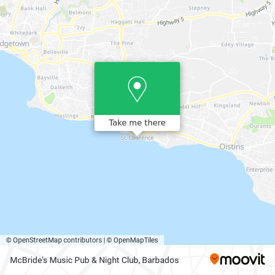 McBride's Music Pub & Night Club map