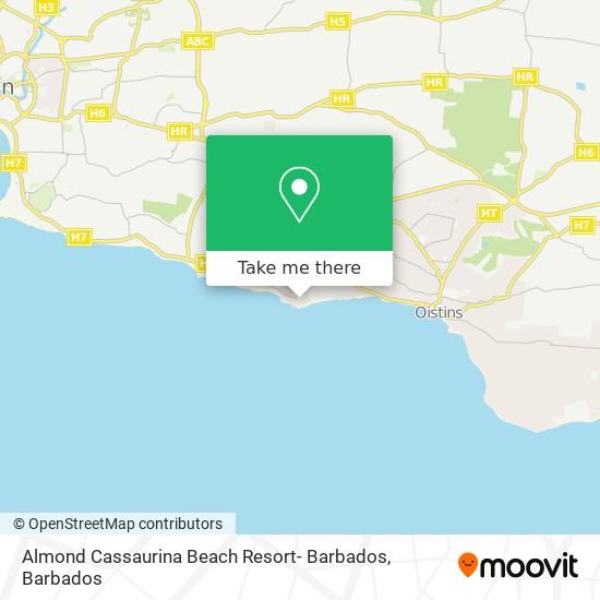 Almond Cassaurina Beach Resort- Barbados map