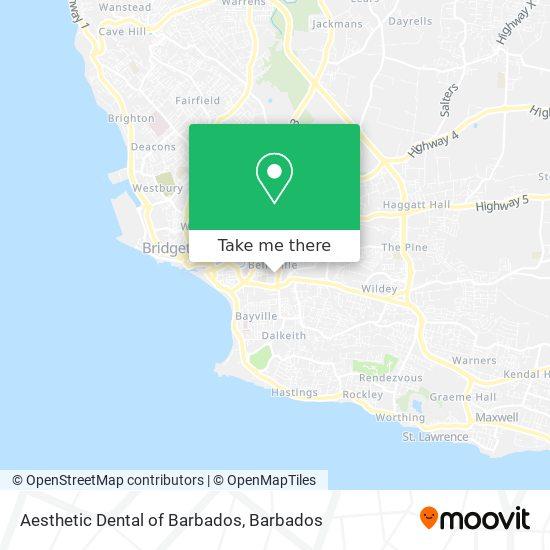 Aesthetic Dental of Barbados map