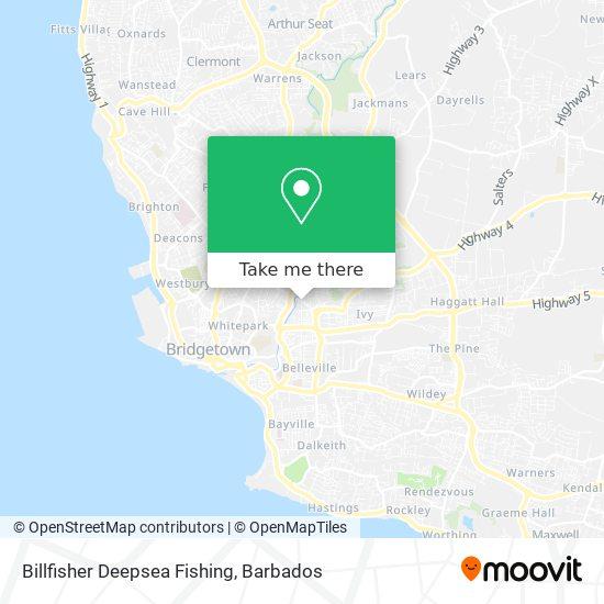 Billfisher Deepsea Fishing map