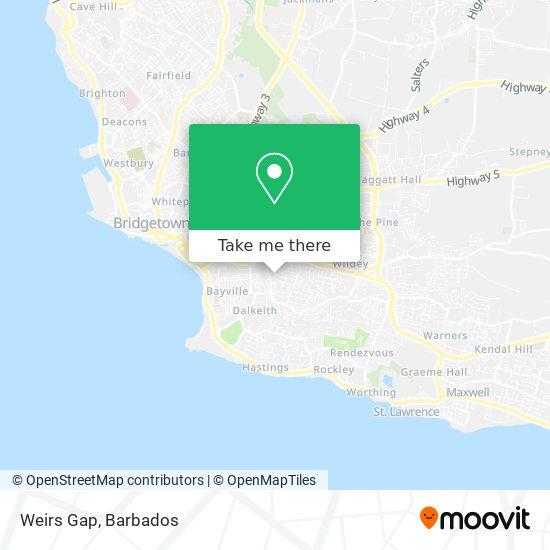 Weirs Gap map