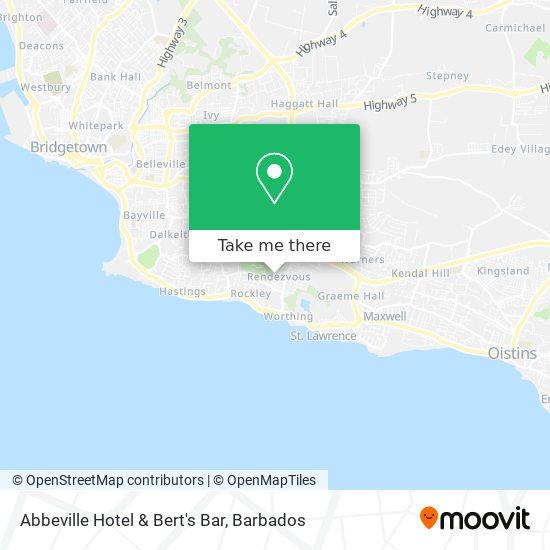Abbeville Hotel & Bert's Bar map