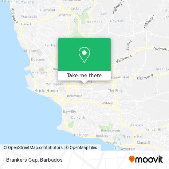 Brankers Gap map