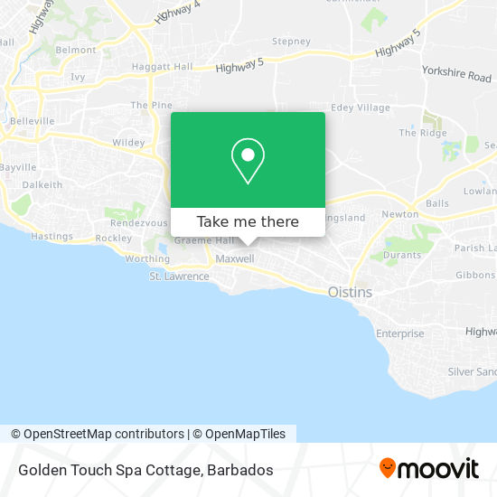 Golden Touch Spa Cottage map