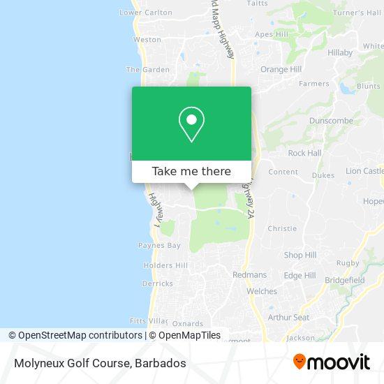 Molyneux Golf Course map