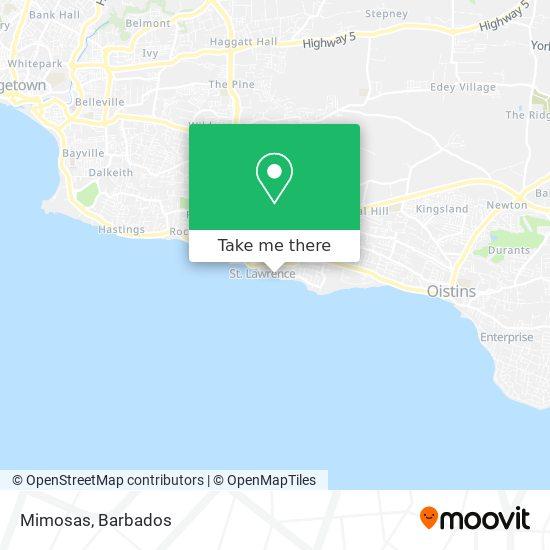 Mimosas map