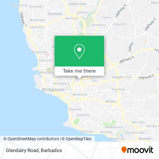 Glendairy Road map