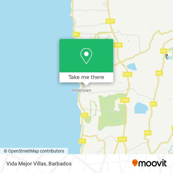 Vida Mejor Villas map