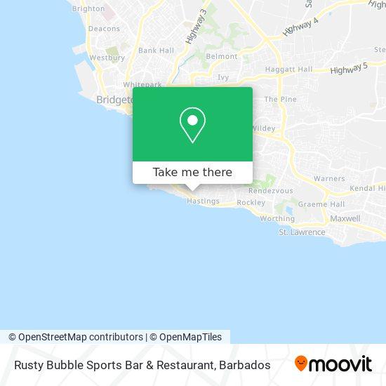 Rusty Bubble Sports Bar & Restaurant map