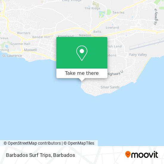 Barbados Surf Trips map