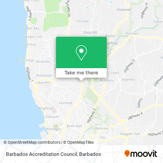 Barbados Accreditation Council map