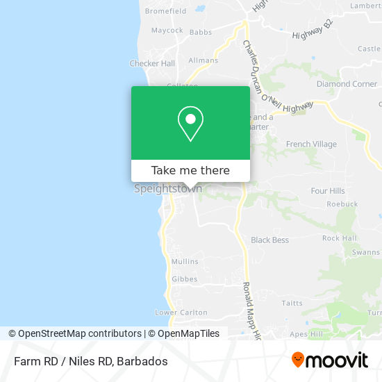 Farm RD / Niles RD map