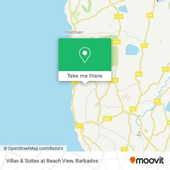 Villas & Suites at Beach View map