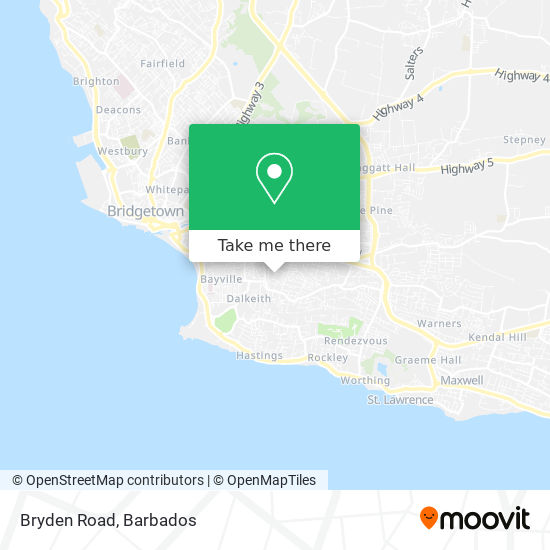 Bryden Road map