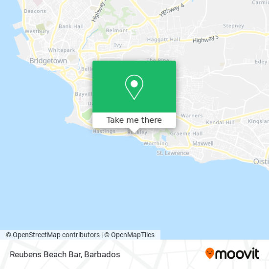 Reubens Beach Bar map