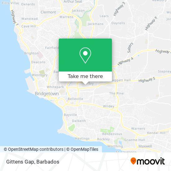 Gittens Gap map