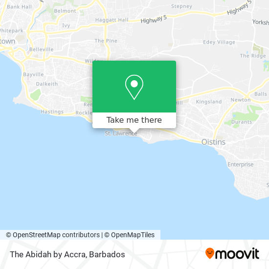 The Abidah by Accra map