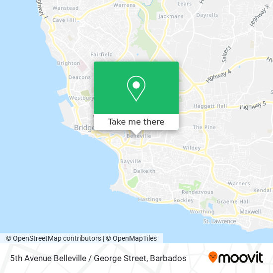 5th Avenue Belleville / George Street map