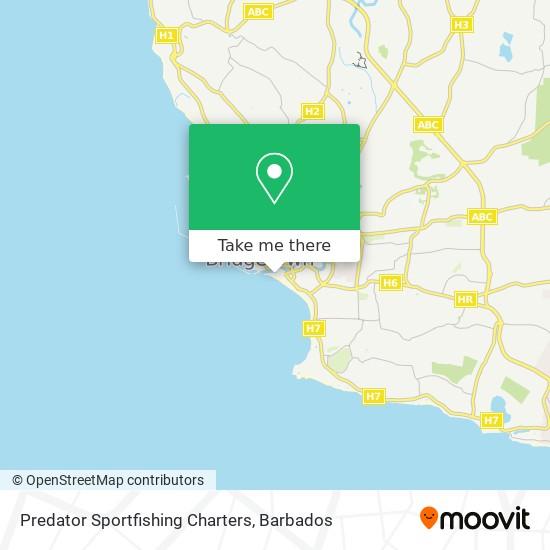 Predator Sportfishing Charters map