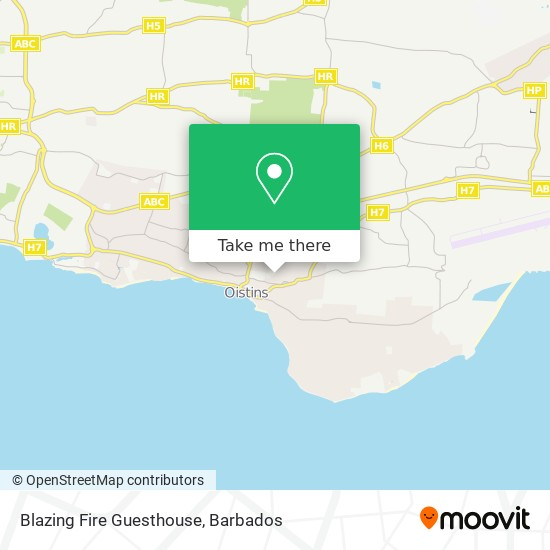 Blazing Fire Guesthouse map