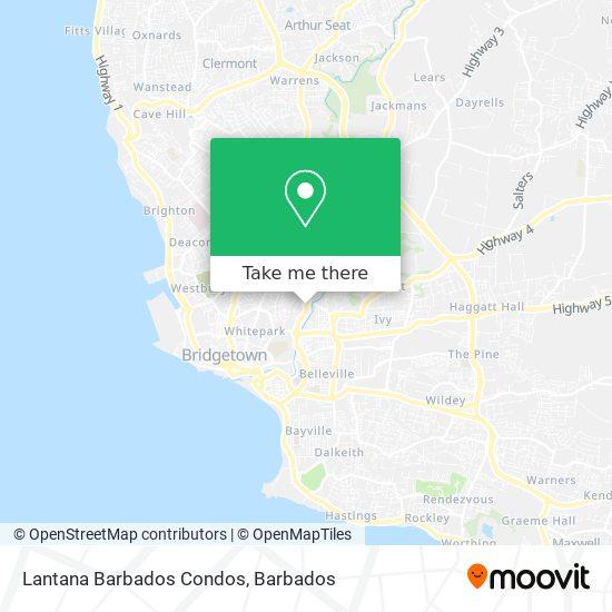 Lantana Barbados Condos map