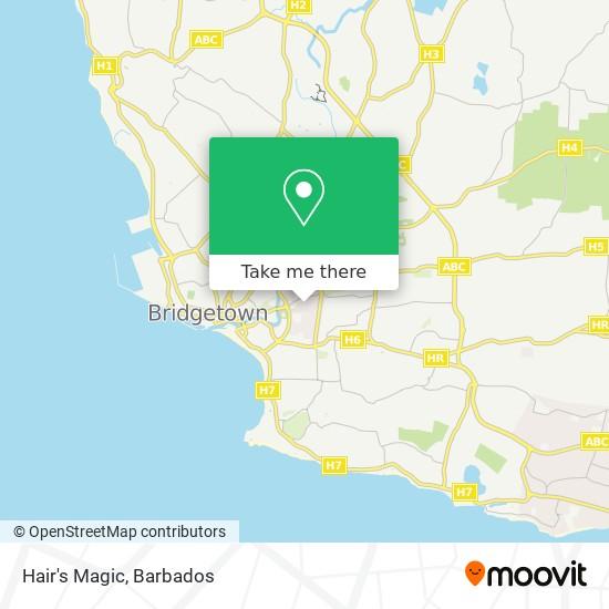 Hair's Magic map